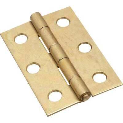 National 2-1/2 In. Brass Tight-Pin Narrow Hinge (2 Count)