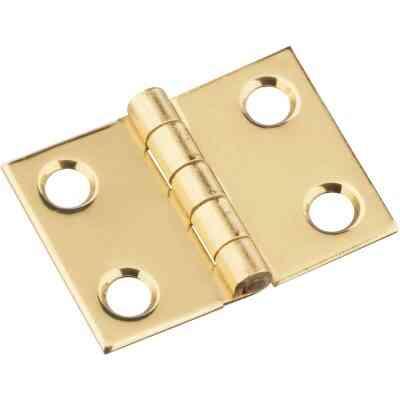 National 3/4 In. x 1 In. Brass Medium Decorative Hinge (2-Pack)