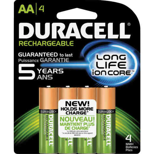 Duracell AA NiMH Rechargeable Battery (4-Pack)
